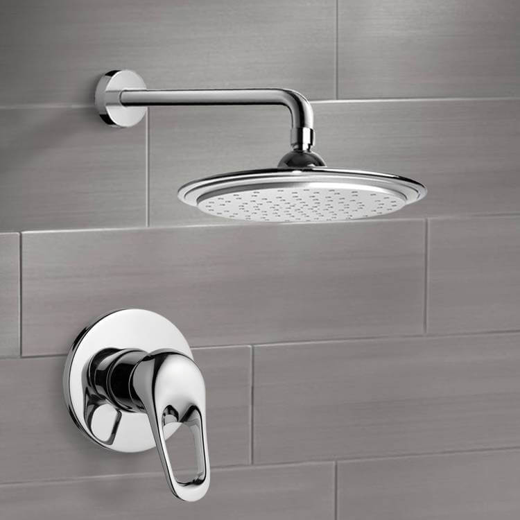 Shower Faucet, Remer SS1006, Chrome Shower Faucet Set with 9