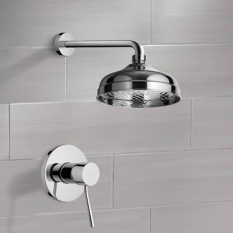 Shower Faucet, Remer SS1041-CR, Chrome Shower Faucet Set with 8