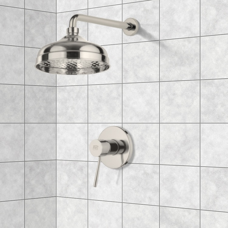 Satin Nickel Shower Faucet Set with 8\