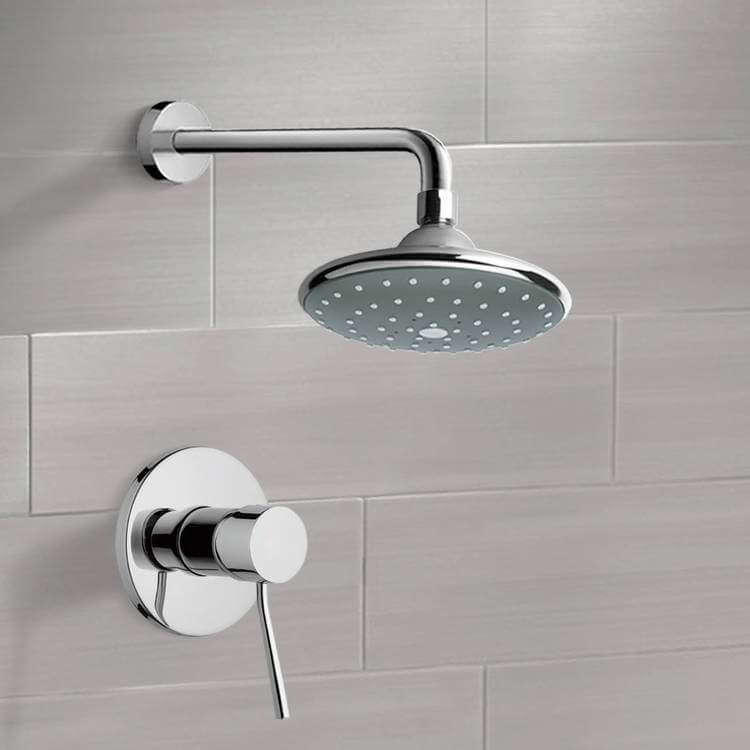 Shower Faucet, Remer SS1045, Chrome Shower Faucet Set with 6