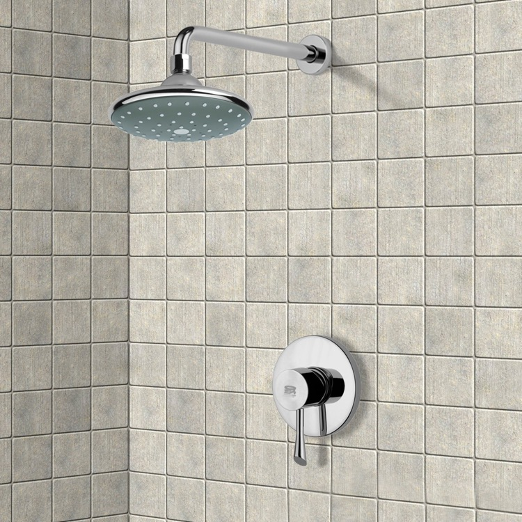 Shower Faucet, Remer SS1046, Chrome Shower Faucet Set with 6