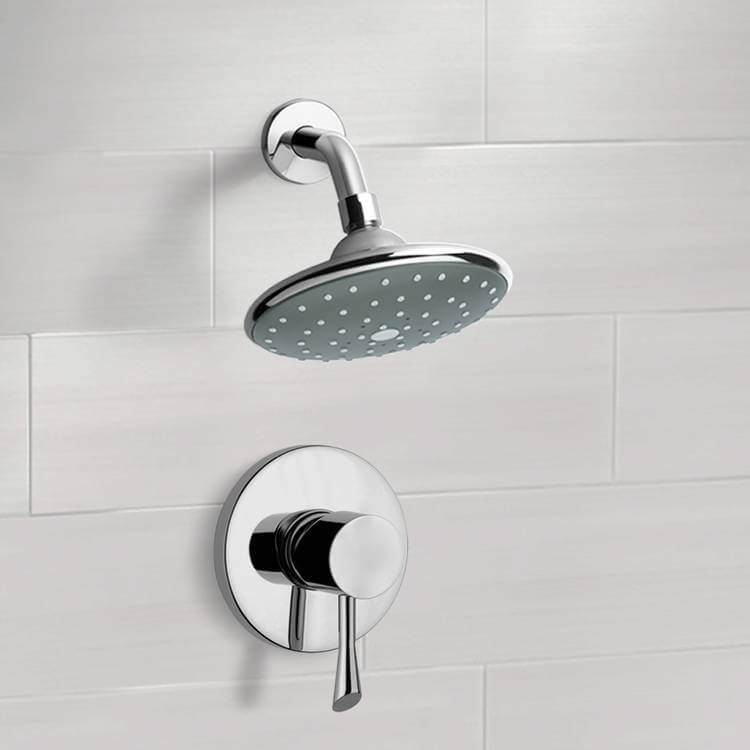 Shower Faucet, Remer SS1067, Chrome Shower Faucet Set with 6
