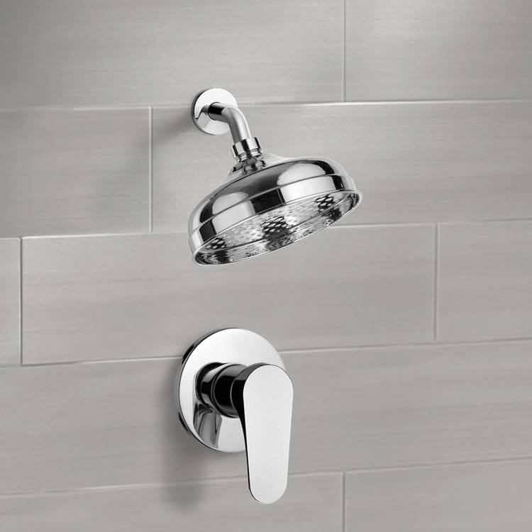 Shower Faucet, Remer SS1100-CR, Chrome Shower Faucet Set with 8