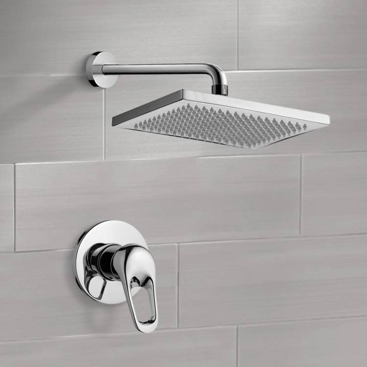Shower Faucet, Remer SS1118-CR, Chrome Shower Faucet Set with 9.5