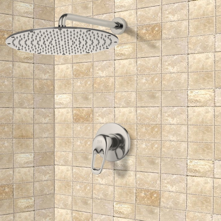 Remer SS1136-NP By Nameek\'s Mario Satin Nickel Shower Faucet Set ...