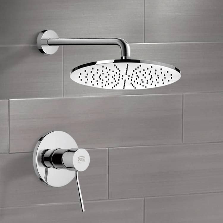 Shower Faucet, Remer SS1145-CR, Chrome Shower Faucet Set with 12