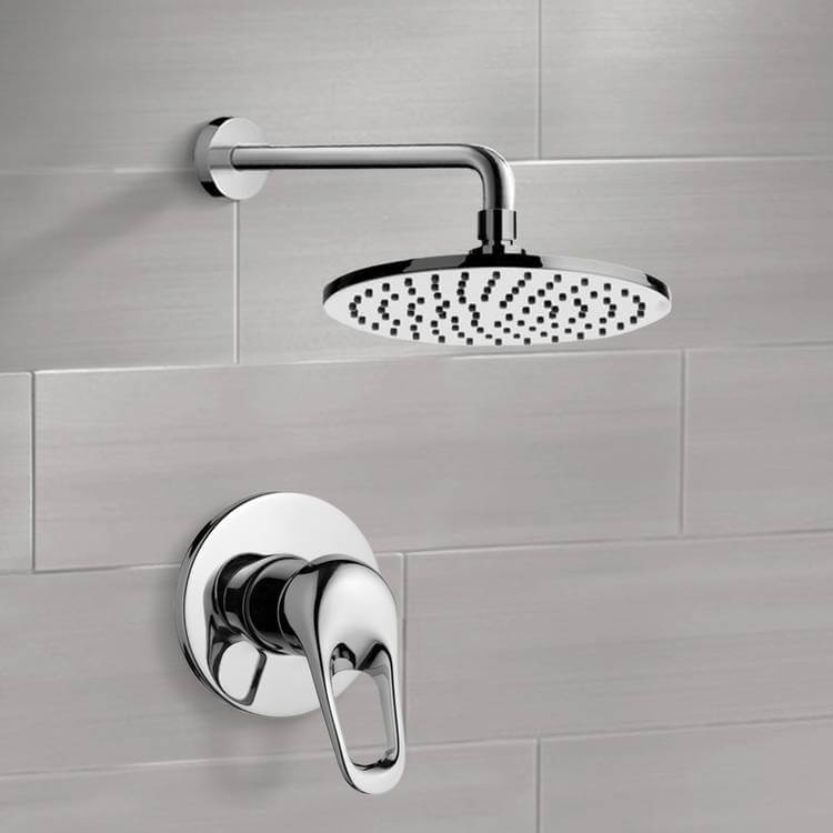 Shower Faucet, Remer SS1149-CR, Chrome Shower Faucet Set with 8
