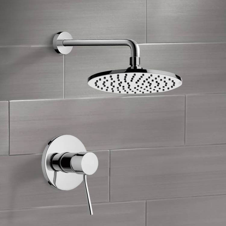 Shower Faucet, Remer SS1151-CR, Chrome Shower Faucet Set with 8