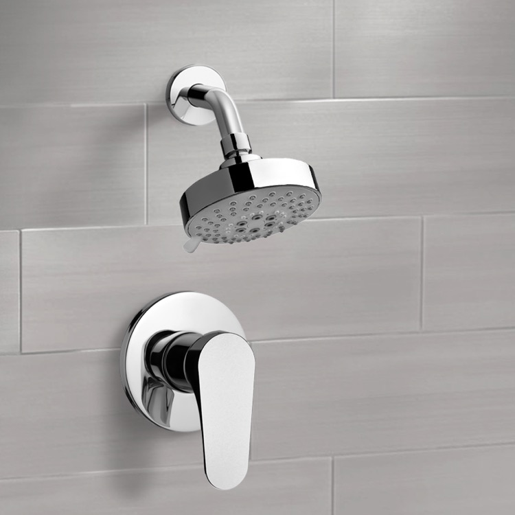 Shower Faucet, Remer SS1204, Chrome Shower Faucet Set with Multi Function Shower Head