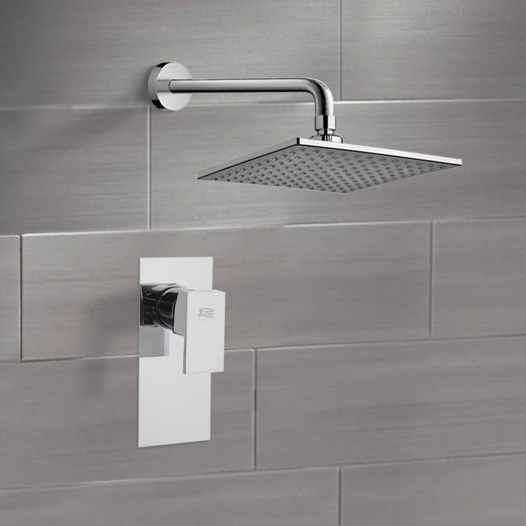 Shower Faucet, Remer SS1224, Chrome Shower Faucet Set with 8