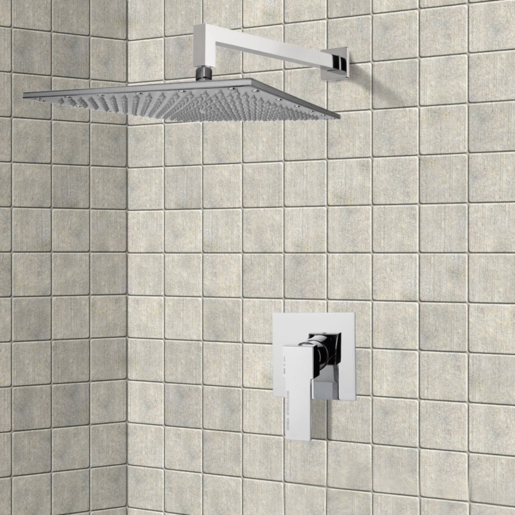 Shower Faucet, Remer SS1295-CR, Chrome Shower Faucet Set with 14
