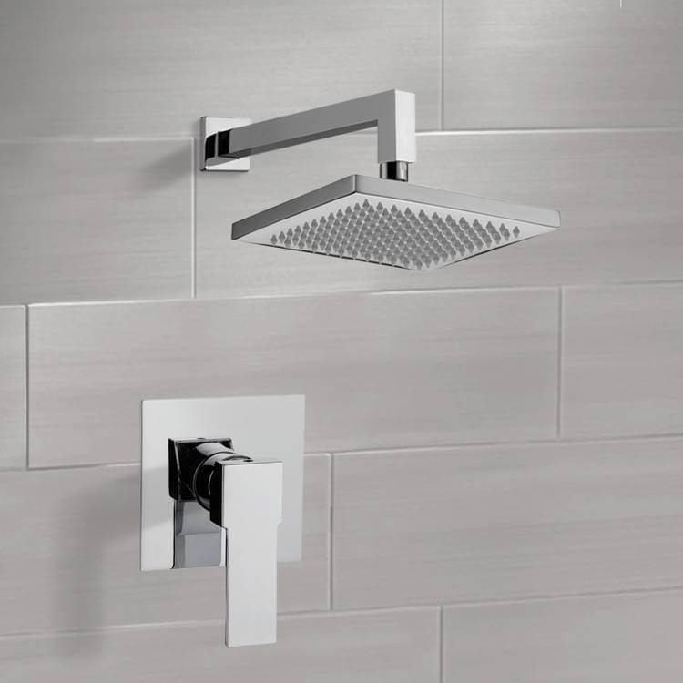 Shower Faucet, Remer SS1299-CR, Chrome Shower Faucet Set with 8