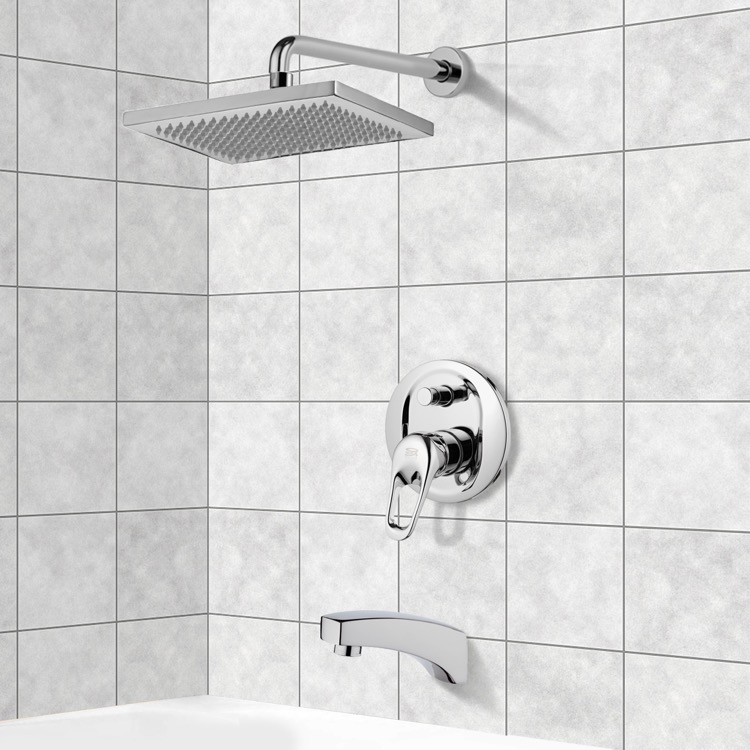 Remer TSF2118 By Nameek\'s Peleo Tub and Shower Faucet Sets with 9.5 ...