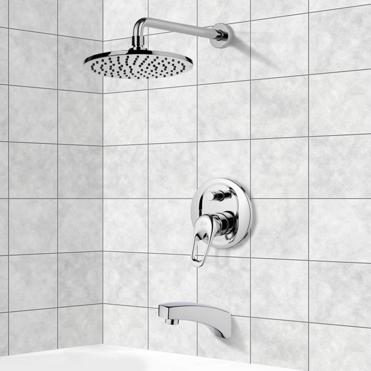 Remer TSF2149 By Nameek\'s Peleo Tub and Shower Faucet Sets with 8 ...