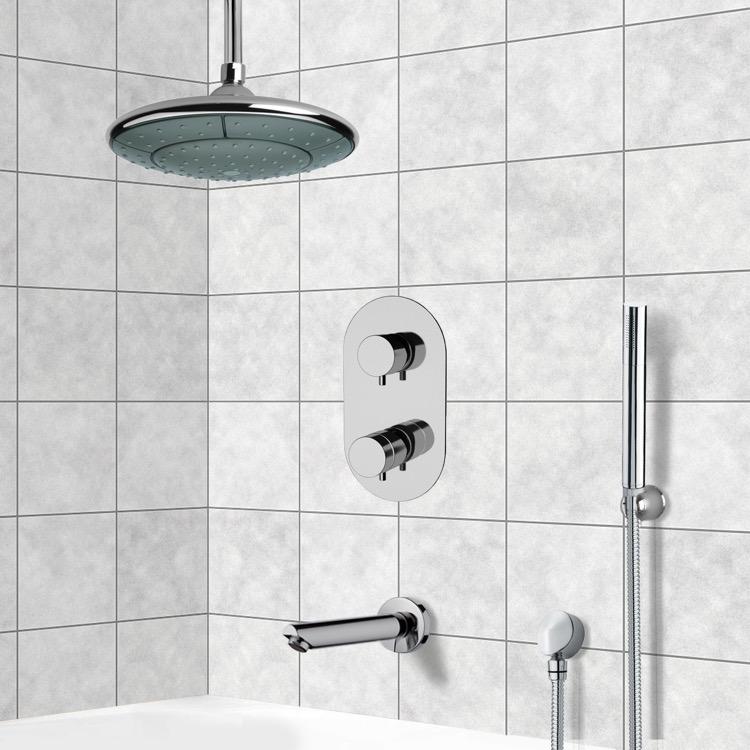 Remer TSH4406 By Nameek\'s Tyga Chrome Thermostatic Tub and Shower ...