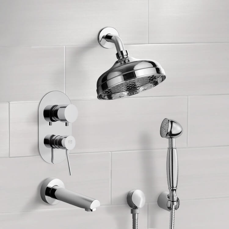 Remer Tsh4528 By Nameek S Inverno Tub And Shower System With 8 Rain