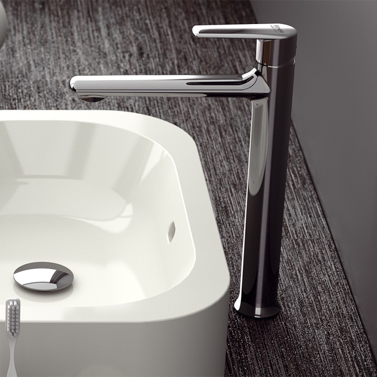 Remer V11L By Nameek\'s Vanity Chrome Round Vessel Sink Faucet ...
