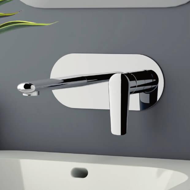 Remer V15 By Nameeks Vanity Chrome Round Wall Mount Bathroom Sink