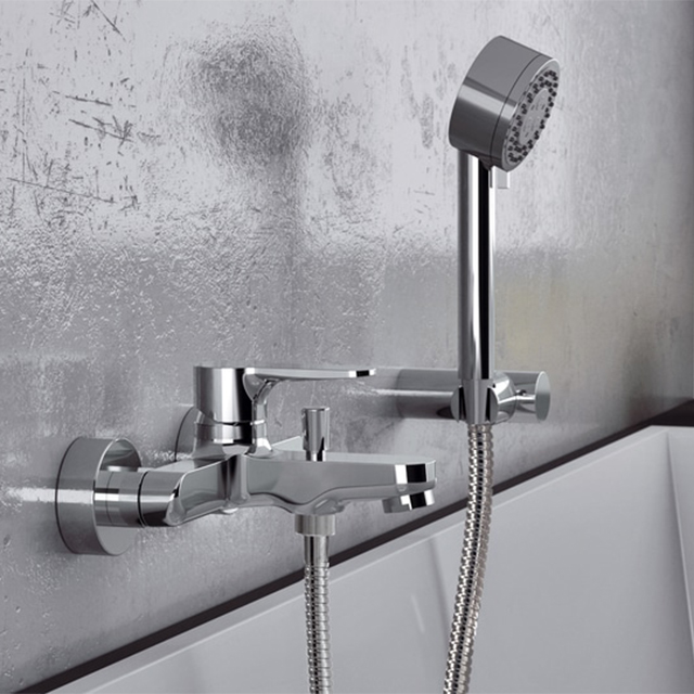 Tub Filler Remer W02 Wall Mounted Faucet With Hand Shower