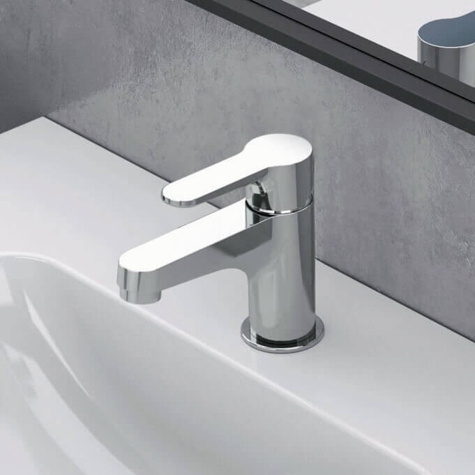 Bathroom Faucet, Remer W11SUSNL-CR, Chrome Single Hole Bathroom Faucet