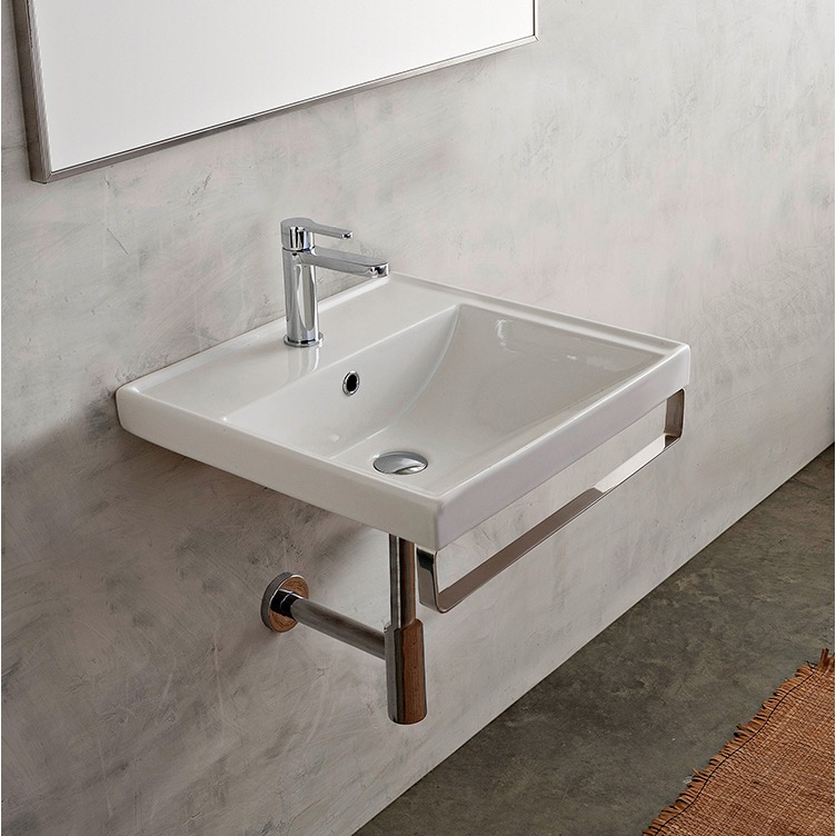 Scarabeo 3001 Tb By Nameeks Ml Square Wall Mounted Ceramic Sink