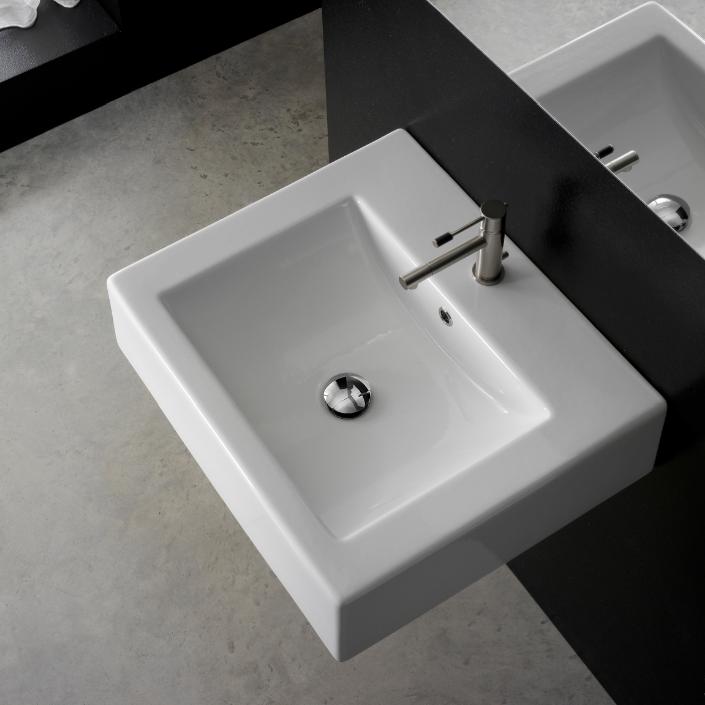 . Scarabeo 8007 B Bathroom Sink  Square   Nameek s