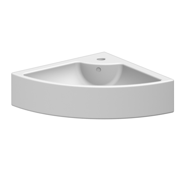 Square Corner Sink : ... Square Square White Ceramic Wall Mounted or Vessel Corner Sink