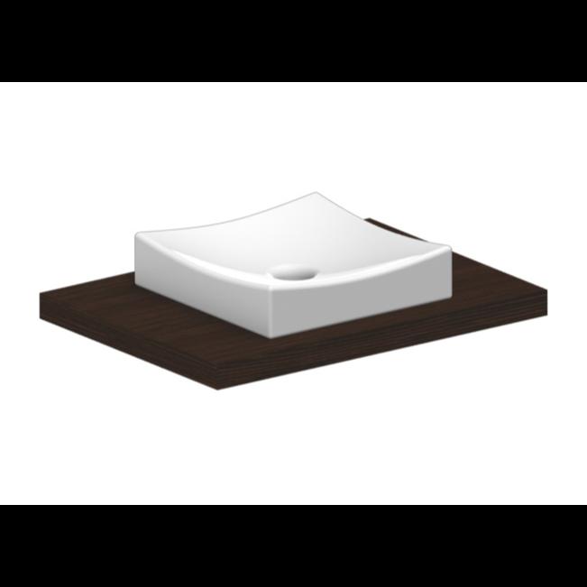 Square Vessel Sink White : Bathroom Sink, Scarabeo 8040, Square White Ceramic Vessel Sink 8040