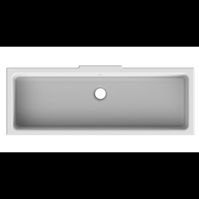 ... Sink, Scarabeo 8091, 22 Inch Rectangular Ceramic Undermount Sink 8091