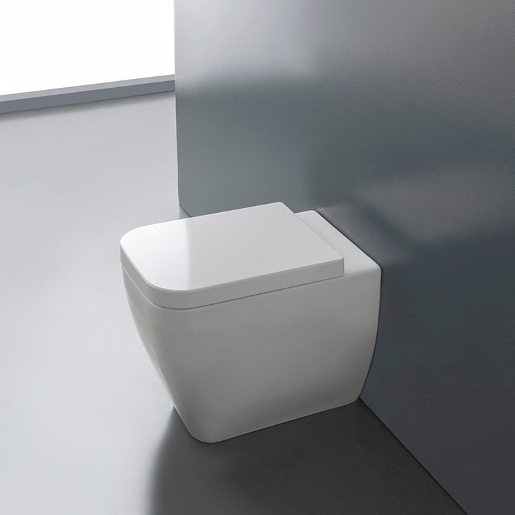Scarabeo 8309 By Nameek S Next Round White Ceramic Floor Toilet