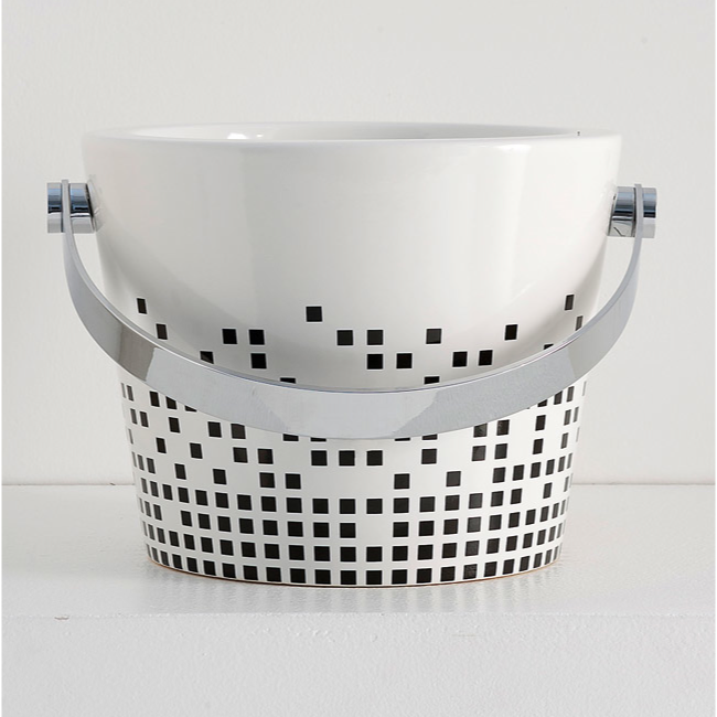 Bathroom Sink, Scarabeo 8803-Z, Decorative Bucket Bathroom Sink in Ceramic