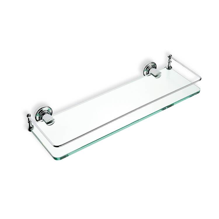 Bathroom Shelf Stilhaus 766 08 Chrome Clear Gl