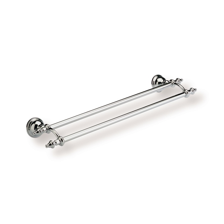 Double Towel Bar, StilHaus EL05.2-08, 24 Inch Classic Style Double Towel Bar