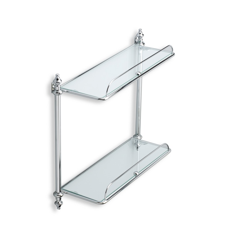 StilHaus EL694 By Nameek\'s Elite Double Glass Bathroom Shelf ...