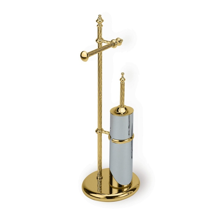 Bathroom Butler, StilHaus G691-16, Free Standing Gold Classic-Style 2-Function Bathroom Butler