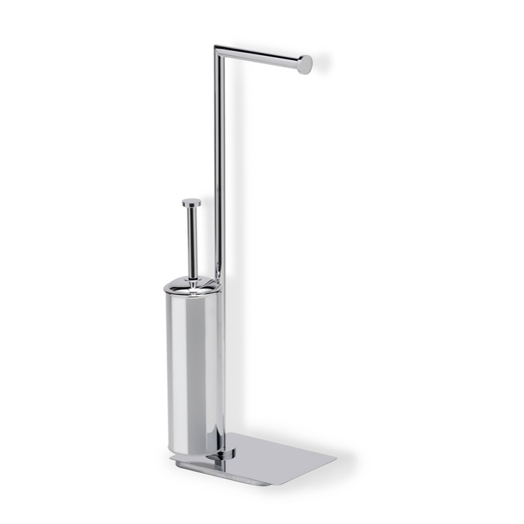 Bathroom Butler, StilHaus ME20-08, Chrome Free Standing 2-Function Bathroom Butler