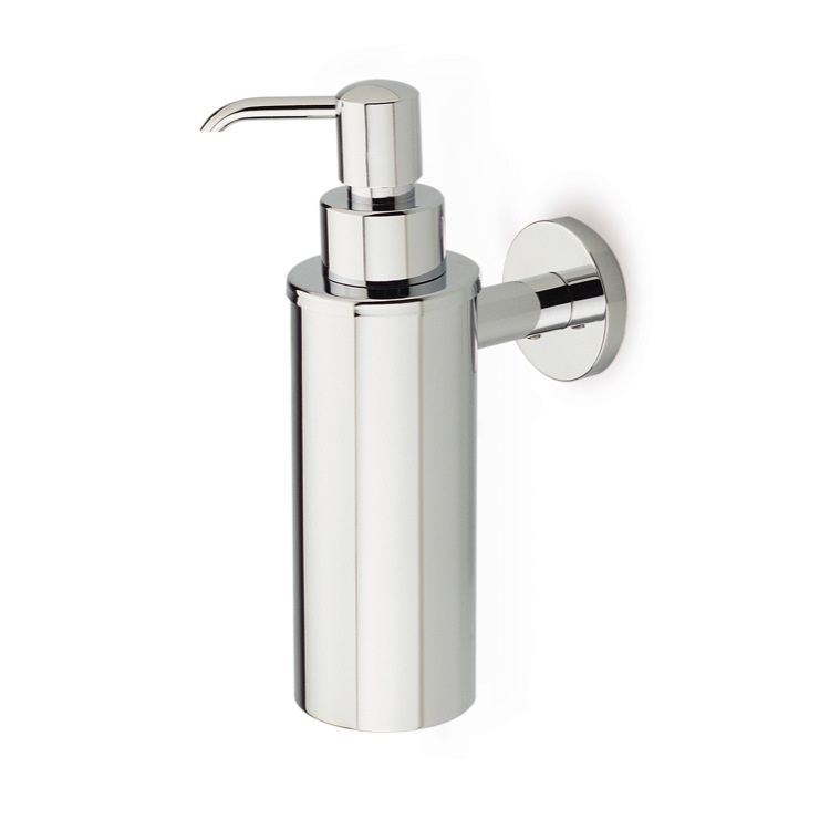 Soap Dispenser, StilHaus ME30-08, Wall Mounted Round Brass Soap Dispenser