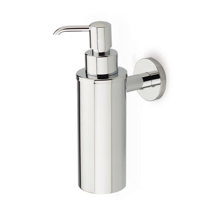 soap dispenser stilhaus me30 wall mounted round brass soap dispenser