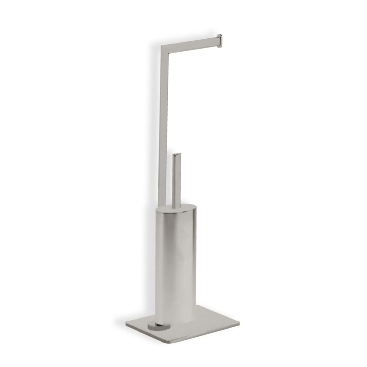 Bathroom Butler, StilHaus DI20-36, Satin Nickel Free Standing 2-Function Bathroom Butler