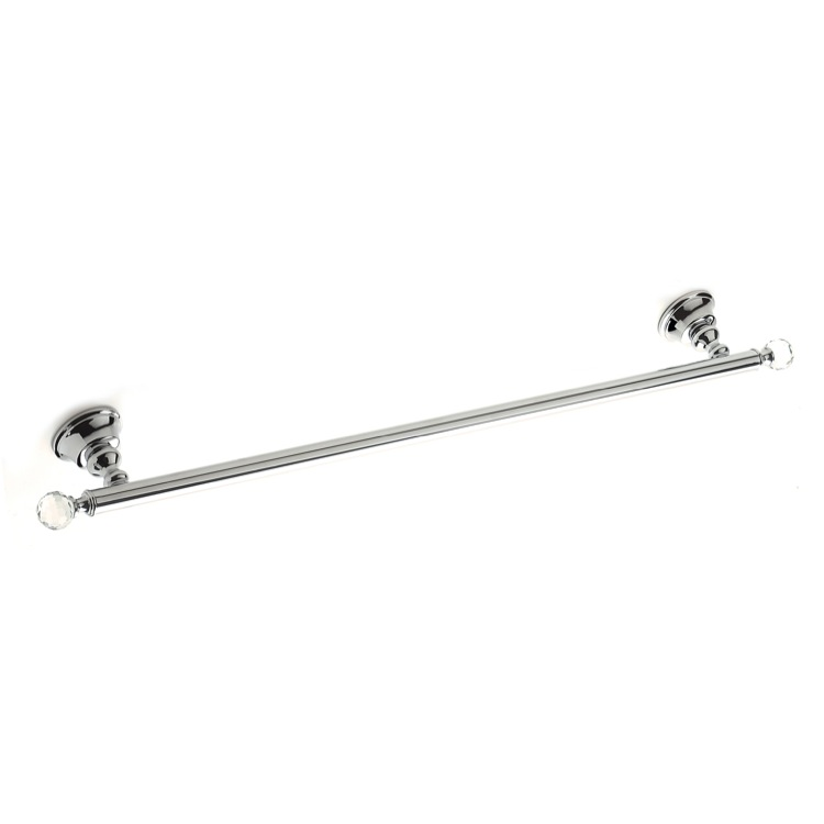 Towel Bar, StilHaus SL05-08, Chromed Brass 24 Inch Towel Bar with Crystals
