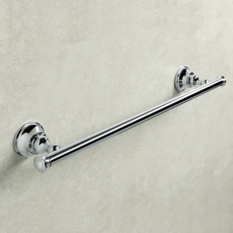 Towel Bar, StilHaus SM45-08, Chromed Brass 18 Inch Towel Bar