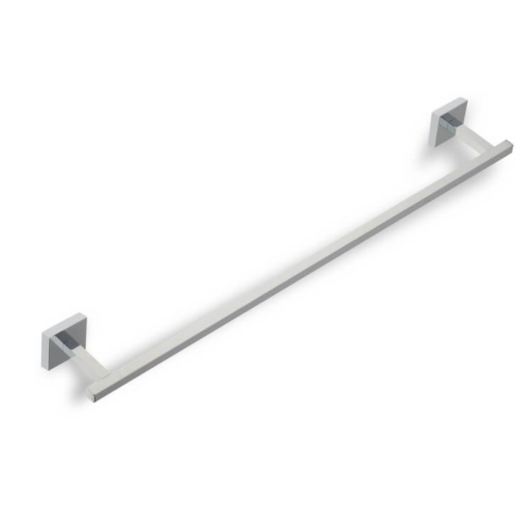 Towel Bar, StilHaus U05-08, Square 24 Inch Chrome Towel Bar