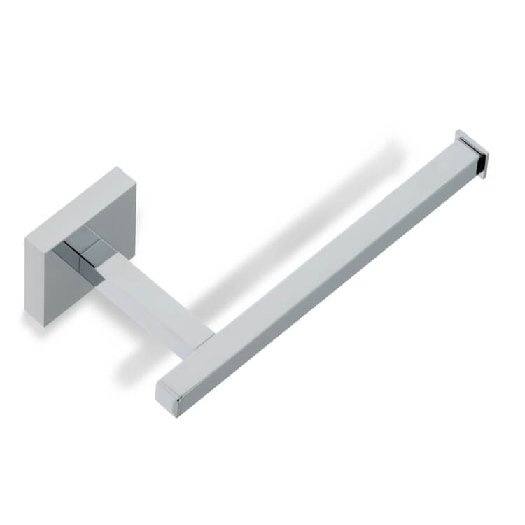 Toilet Paper Holder, StilHaus U11-08, Square Chrome Toilet Paper Holder