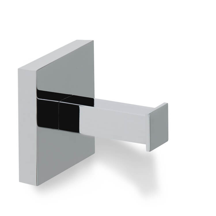 Bathroom Hook, StilHaus U13-08, Contemporary Chrome Brass Robe Hook