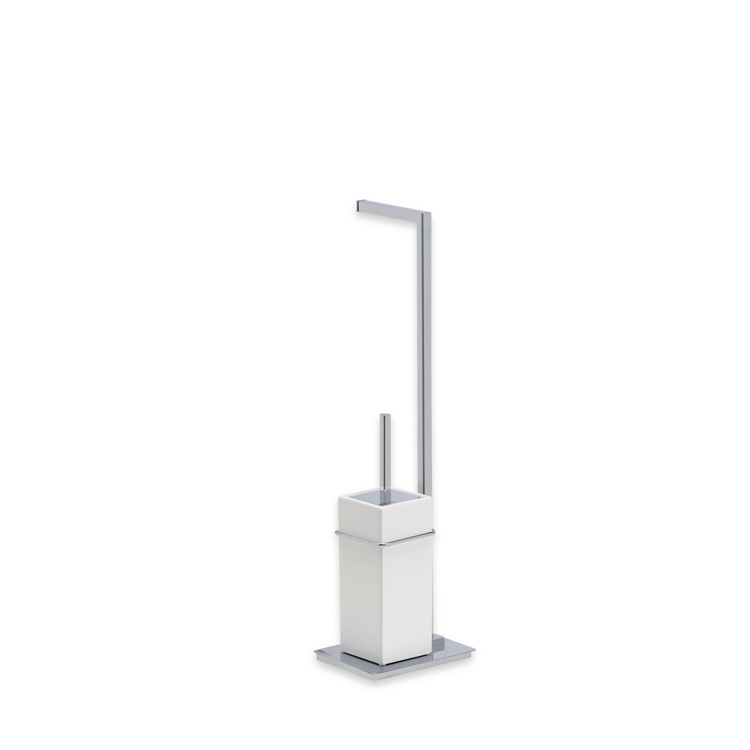 Bathroom Butler, StilHaus U20-08, Chrome Free Standing 2-Function Bathroom Butler