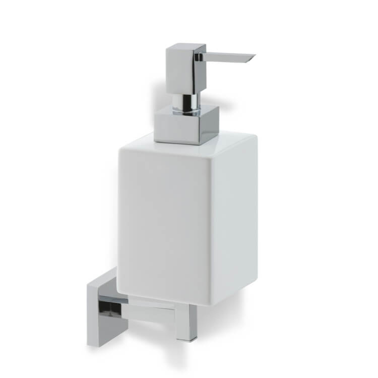 Soap Dispenser Stilhaus U30 Wall Mounted Square White Ceramic