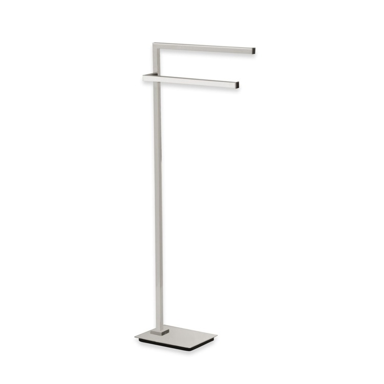Towel Stand, StilHaus U19-36, Satin Nickel Free Standing Towel Stand
