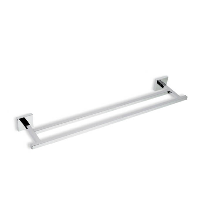 double towel bar brushed nickel. Chrome 22 Inch Double Brass Towel Bar Brushed Nickel
