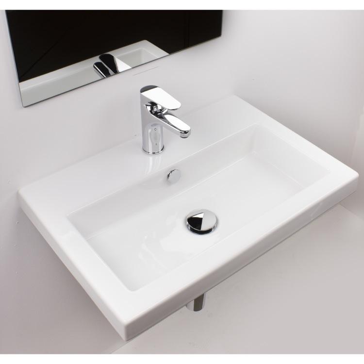 Tecla 4001011 By Nameek S Serie 40 Rectangular White Ceramic Drop In