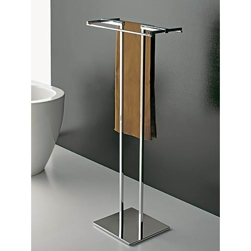 Towel stand toscanaluce 877 free standing towel stand with chrome